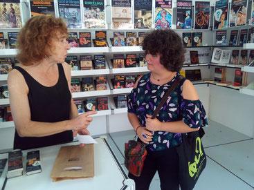 Elisenda Albertí i Mixa durant la Setmana del Llibre en Català 2016