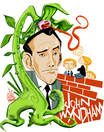 Caricatura de John Wyndham de Dan Rebellato