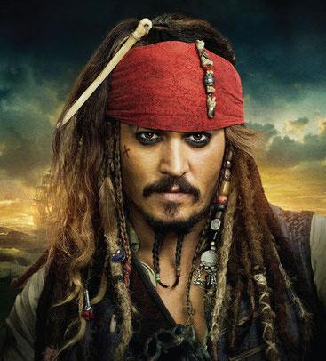 """El capità Jack Sparrow de les pel·lícules """"Pirates del Carib"""", interpretat per Johnny Depp"""