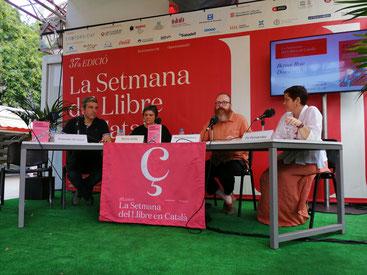 D'esquerra a dreta: Francesc Gil-Lluch, Núria Iceta, Bernat Ruiz i Fe Fernández
