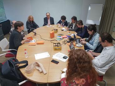 Esmorzar de premsa a la Fundació Carulla