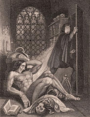 Ilustración de Frankenstein de 1831
