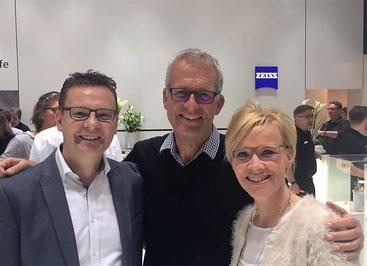 Britta und Martin Gebker mit Christian Danner (ehem. Rennfahrer, Formel-1-Kommentator und Fahrsicherheitsexperte