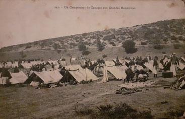 Tentes pour 4 hommes, ici en 1918