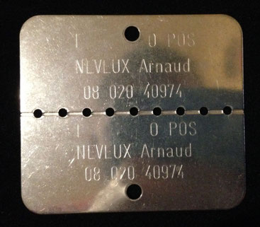 Plaque modèle 1993
