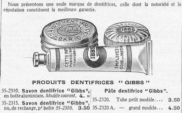 Extrait du catalogue de la Manufacture d'Armes de Saint-Etienne - 1937