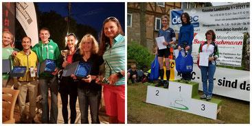 Bild Links: Silke Schütt, 2.v.R.Foto: Facebook/Silke Schütt // Bild Rechts:Gudrun Strauss  1.v.R. Foto: Privat