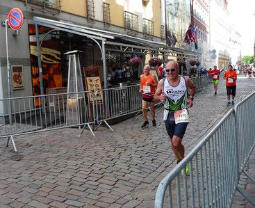 Alfred Krause, RC Vorwärts Speyer, beim Marathon in Riga. Foto: Alfred Krause