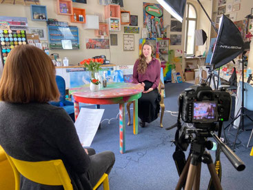 Sarah-Ann im Interview, Foto: Susann Seifert