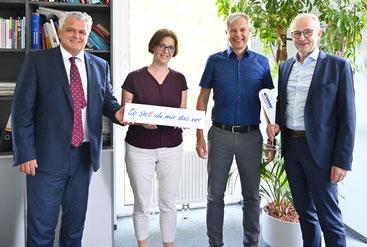 v.l.: Wolfgang Gadermaier, Manuela Nemesch, Gerald Zeininger, Reinhard Gojer