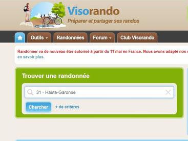 Wandern Fahrradtour Reiten Ausflüge Frankreich Visorando Rando