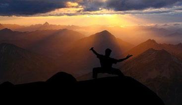 Meditation spielt bei traditionellen Kampfkünsten eine große Rolle
