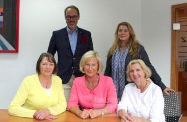 Sprachen über die Arbeit des Vereins: Dr. Andrea Herbrechtsmeier, Nicolai Friedrichsen, Angelika Rupf, Christiane Kroos, Doris Schmiegelt, v.l.n.r (Bild: Schemuth)