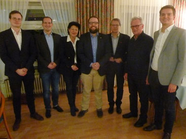 Der geschäftsführende Vorstand der Stadt CDU Lüneburg. (nicht mit auf dem Bild: Dr. Thomas Buller)