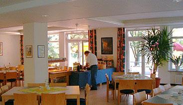 Der Speisesaal in der Politischen Bildungsstätte