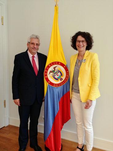 Kolumbien Botschaft embajada colombia knudsen