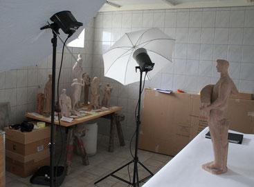 Aufbau Fotodokumentation des Nachlassbestandes (Depot). Foto: Sven Pabstmann