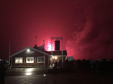 Silvester Feuerwerk in Sankt Peter-Ording