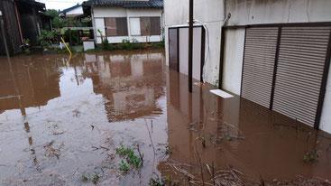 冠水した団地 八街市 床上浸水