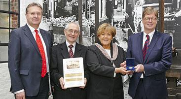 Dr.-Ing. Wilhelm Brunner, Prof. Dr. Horst A. Wessel, Oberbürgermeisterin Beate Wilding, Max W. Schenck