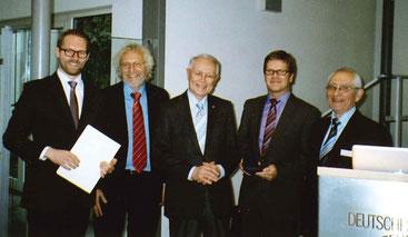 Simon Jegelka, Reinhard Vogt, Bürgermeister Lothar Krebs, Roland Draier, Prof. Dr. Horst A. Wessel