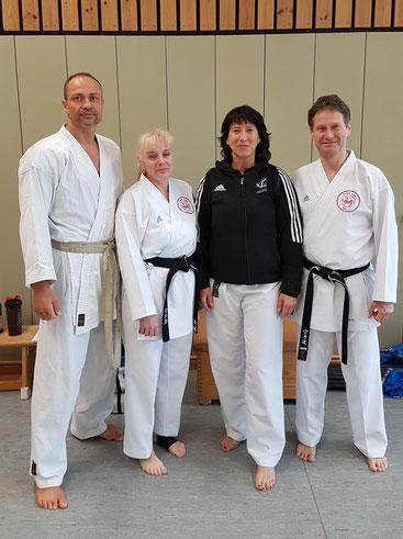v.l.: Wolfgang, Henkel, Friederike Zeifang, Ulrike Maaß und Carsten Zeifang im April 2018 in Hennef