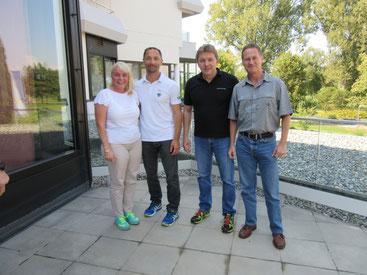 Friederike Zeifang, Dr. Jürgen Fritzsche, Rudi Heimann und Carsten Zeifang bei Gewaltschutzausbildung