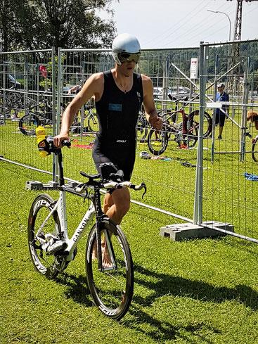 Mario Weise wird Gesamt Fünfter beim Ebenweiler Triathlon