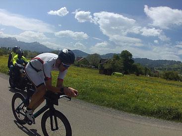 Mario Weise war heute der Schnellste TriFL Athlet (Foto: Silva Schädler)