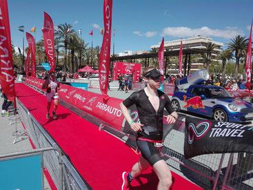 Roger Stalder nach 72,9 Km im Ziel beim Short Challenge Salou