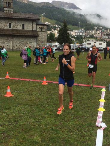 Nicole Klingler kurz vor dem Zieleinlauf