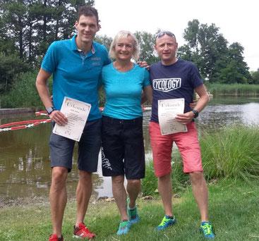 Mario Weise, Cornelia Bickert und Torsten Queisser (vlnr) erfolgreich in Ebenweiler