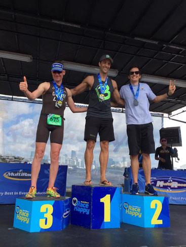 3. Rang für Daniel Gassner in der Kat. M40-44 beim Sprint Triathlon in Miami