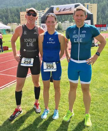 Tolle Leistungen unserer Athleten - vlnr Philip Schädler, Nicole Klingler, Christian Harzenmoser