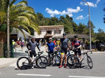 Fanden sehr gute Trainingsbedingungen auf Mallorca vor: Sven, Hans, Mario und Roger