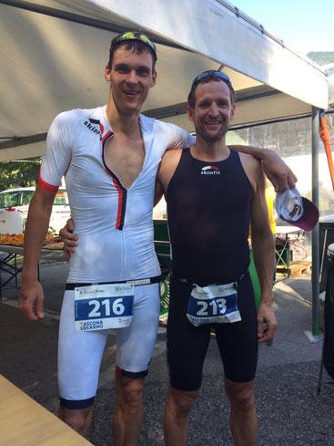 Mario Weise (links) und Marc Ruhe im Ziel
