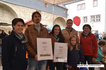 Verleihung Typisch Harz Qualitäts- und Herkunftssiegel an die Harzer Gebirgsimkerei André Koppelin