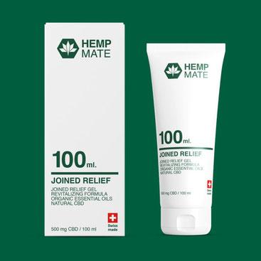 HEMPMATE Joined Relief Gel - für belastete Muskel- und Gelenkflächen und der perfekte Begleiter für unser Joint Relief Oil.