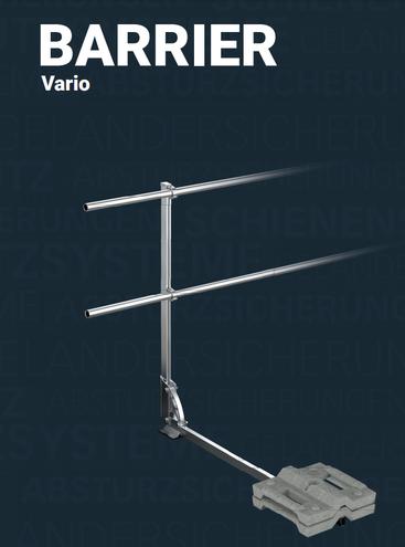 Innotech Barrier VARIO auflastgehaltenes Geländersystem