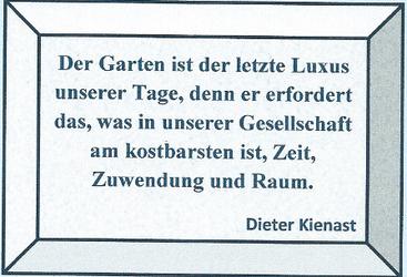 Zitat von Dieter Kienast in gerahmter Form, von Word importiert