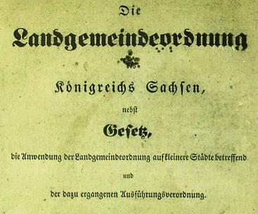 Die Landgemeindeordnung von 1838 trat im Mai 1839 in Kraft