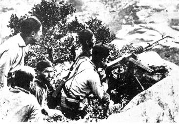 Spanische MG-Stellung bei Chechaouen
