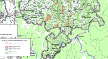 Ausschnitt  Regionalplanentwurf Hessen Süd;  Stand Dezember 2016