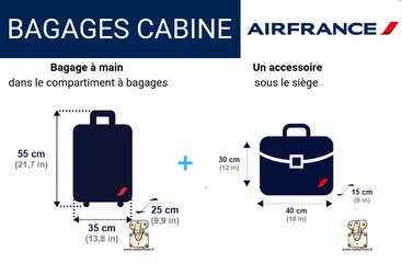 Aujourd'hui la taille d'une valise cabine chez Air France est de 55 cm x 35 cm x 25 cm Louis Vuitton