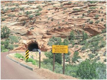 ein dunkler Tunnel
