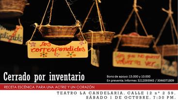 Cerrado por inventario en el Encuentro de teatro gestual Gesto Vivo