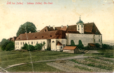 Postcard to the southeast view of the castle at the end of the 19th century