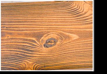 Öle und Wachse pigmentieren: fertiges Holzstück