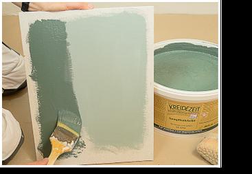Unterschied zu frischer und getrockneter Wandfarbe
