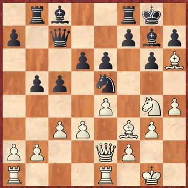 Goller - Hein: Schwarz zog hier 18. ... Lxh6? und ließ nach 19.Sxh6+ Kg7 20.Sg4 Sxf3?! folgen was in der Folge einen Angriff auf den schwarzen Feldern zuließ. Stattdessen hätte Jürgen mit 18. ... f5! sogar in Vorteil kommen können!